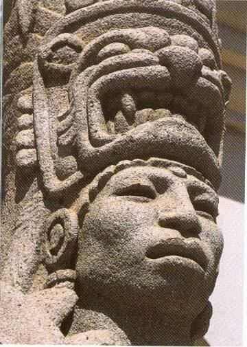Aztec native stone carving