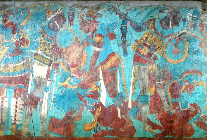 Aztec wall painting
